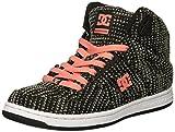 DC Women's Pure High-Top TX Se Skate Shoe, Black/Pink, 6 Medium US