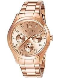 Esprit ES106702003 - Reloj para mujeres, correa de acero inoxidable chapado color oro rosa