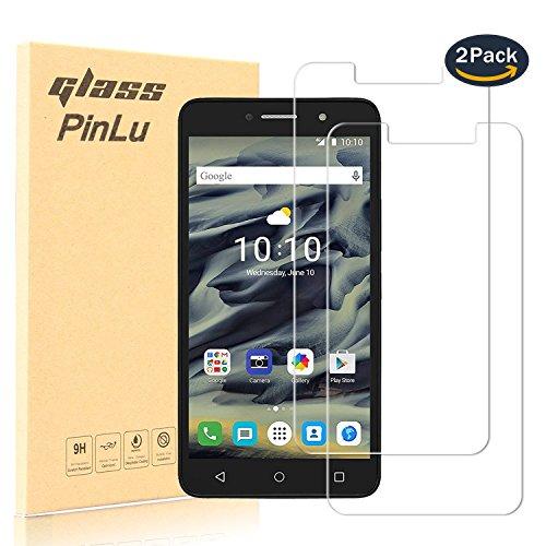 [2 Stück] pinlu® Panzerglas Bildschirmschutzfolie für Alcatel Pixi 4 (6.0 zoll, 3G / 4G Version) Transparent Glasfolie Protector 9H Härtegrad Schutzglas,99prozent Transparenz,Einfaches Anbringen,3D Touch Kompatibel