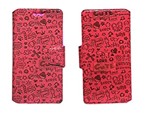 J Cover Taddy Series Leather Pouch Flip Case With Silicon Holder For Elephone P6i Red