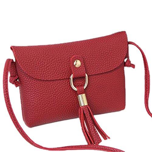 Bag Salon-UK, Borsetta da polso donna Red(0088) taglia unica Red