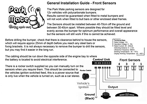 front parking sensors installation instructions