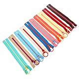 10pcs 20cm Resin Zipper Metal Ring Puller Colorful Sewing Pouch Bag DIY Sewing Craft Random Color