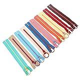 10Pcs Kunstharz Reißverschluss Metall Ring Lockvogel Colorful Nähen tasche DIY Nähen Craft zufällige Farbe, 30 cm