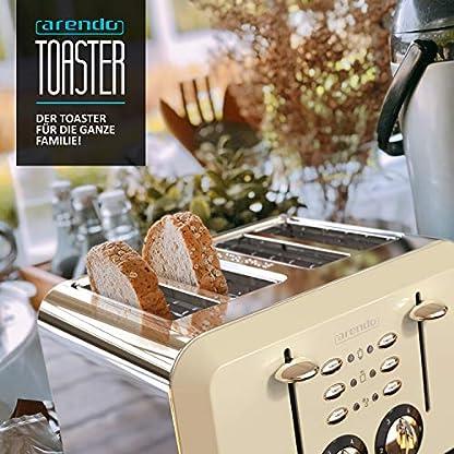 Arendo-Automatik-Toaster-4-Scheiben-Edelstahlgehuse-bis-zu-vier-Sandwich-und-Toast-Scheiben-Brunungsgrad-1-6-Aufwrm-und-Auftaufunktion-Krmelschublade-1630-Watt-GS-zertifiziert