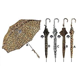 ALANNAHS ACCESSORIES Animal Print Auto Open Long Umbrella Brolly