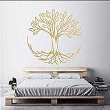 Ponana Arbre De La Vie Stickers Muraux Symbole De Connexion Spirituel Yoga Home Decor Salon Vinyle Wall Sticker Chambre Décoration 57X57Cm B