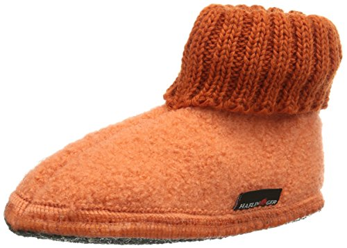 Haflinger Karl, Chaussons montants Mixte enfant Orange (Koralle / 82)