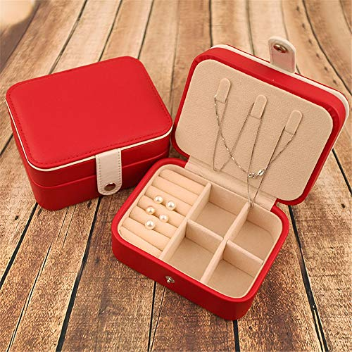 ZYC Mini Nette Kuchenform Macaron Fall Schmuck Aufbewahrungsbox für Halskette Ohrring Schmuck Organizer Geschenk Für Mädchen Tischdekoration,Red