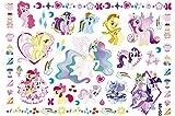 Newin Star Tatuajes Unicornio Temporales para Niños, 7 Packs de Tatuajes de Unicornio, Tatuaje Temporal Pegatinas Para Chicos Juego Infantiles Fiesta de Cumpleaños Regalo Sorpresa