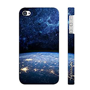 Enthopia Designer Hardshell Case Earth n Space Back Cover for Apple IPhone 4