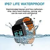 CXL Fitness-Tracker-Farbbildschirm Smart Armband Uhr Herz Rate Blutdruck-Schlaf-Überwachung 1,3 Zoll IP67 wasserdichtes intelligentes Armband GPS Schlaf-Monitoring-Pedometer Kalorie,Orange