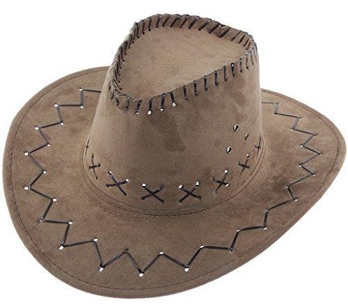 Smile YKK Chapeau Cowboy Adulte Enfant Chevalier Capeline Déguisement Chapeaux de Soleil Voyage Kaki