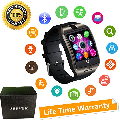 SEPVER Smartwatch Smart Watch mit Kamera Touchscreen SIM Karte Slot Schrittzähler Fitness Tracker Intelligente Armbanduhr Sport Uhr Kompatibel ios iPhone Android Phones Damen Herren Kinder (Schwarz) - 4s Iphone Mit Sim-karten-slot