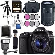 Canon EOS 80D DSLR Camera With 18-55mm Lens + Canon EF-S 55-250mm Lens + Canon 100ES EOS Shoulder Bag Bundle