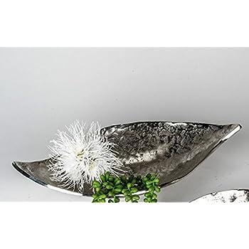 Edle Wohnaccessoires amazon de aluminium schale 35 cm organic silber antik optik edle