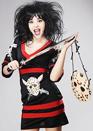Imagen de mujer halloween miss jason voorhees disfraz m uk 10 12  alternativa