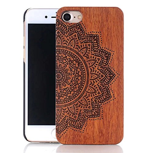 iPhone 6s Plus Hülle, iPhone 6 Plus Hülle, Vandot Holz Handyhülle iPhone 6s Plus / 6 Plus Schutzhülle Ultra Dünn Echtem Wood Hart Case Cover mit PC Hard Bumper Handytasche Retro Handmade Muster Patter Design 2