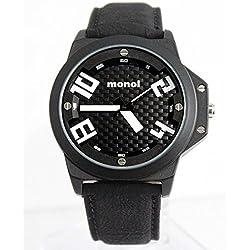 Schwarzes Zifferblatt-Schwarz-Band Schwarz Uhrgehäuse Wasser-Jungen-Mädchen-Mode-Uhr-Widerstand