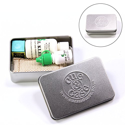 Sil Kleen & Cue seta Cleaner & Polish scatola regalo Deluxe con gambo Slicker e gesso