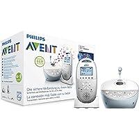 Philips Avent SCD580/00 Audio-Babyphone mit DECT-Technologie, Smart Eco Mode, Sternenhimmel, Gegensprechfunktion, weiß