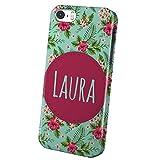 PhotoFancy - iPhone 5 / 5s Handyhülle mit Name Laura - Design 'Flower'