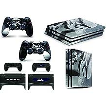 Skins adhesivos GNG para cubierta de PlayStation 4 PS4 PRO de Star Wars Battlefront Stormtrooper + 2 sets de skins del controlador