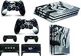 Gizmoz n Gadgetz Skins Adhesivos GNG para Cubierta de Playstation 4 PS4 Pro de Star Wars Battlefront Stormtrooper + 2 Sets de Skins del Controlador