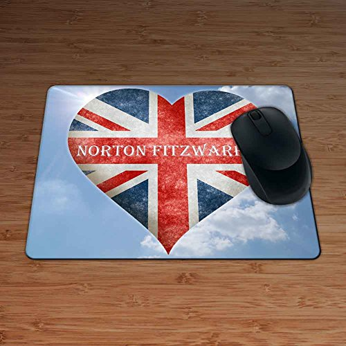Love Norton Fitzwarren Union Flag Heart Design Premium Mouse Mat - 5mm Thick