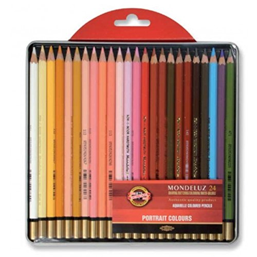 KOH-I-NOOR Mondeluz Portrait Aquarell Coloured Pencils (Set of 24)