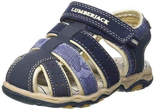 Lumberjack levi, sandali punta chiusa bambino, blu (navy blue), 28 eu