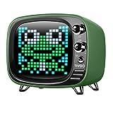 Divoom TIVOO Bluetooth v5.0 Lautsprecher mit Smart Pixel Art Display, Farbe:grün