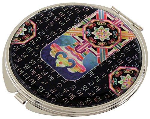 Design tradizionale madreperla Corea-Lente d'ingrandimento compatta, 2 Pochette da trucco Beauty-Specchietto tascabile