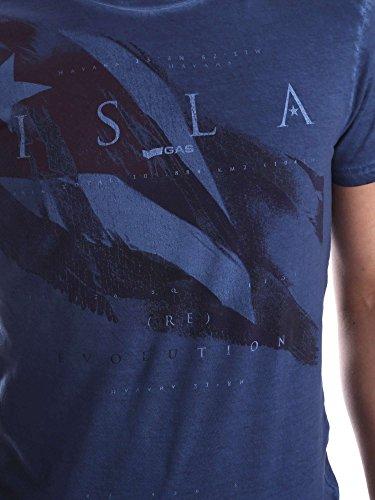 Gas 542890 T-shirt Man Blue