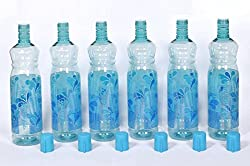 Harshpet Blue 1 LTR Water Bottle Fridge Bottle Set of 6
