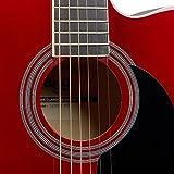 Stagg sa20ace Rouge Auditorium Guitare électro-acoustique pan coupé-Rouge