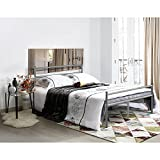 Aingoo letto matrimoniale argento letti in ferro battuto letti di metallo ferro letto 135x190cm