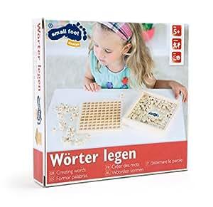 Small Foot by Legler Wortlernspiel aus Holz, geeignet für Kinder ab 5 Jahren, Lernhilfe für Rechtschreibung