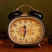 Vintage creativo mute disattiva la sveglia sveglia da 3 pollici ovale di lazybones studenti campana Campanello allarme sveglia