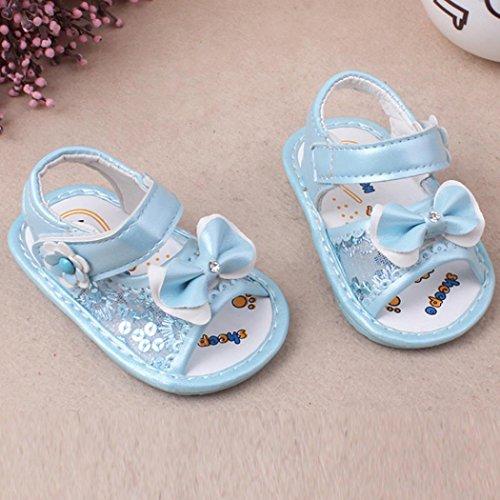 Clode® Baby Bowknot Sandalen Schuh Casual Schuhe Anti-Rutsch Soft Sole Kleinkind Blau