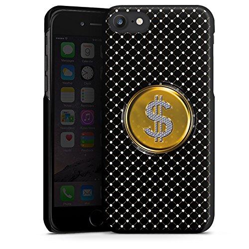 Apple iPhone X Silikon Hülle Case Schutzhülle Dollar Geld Punkte Hard Case schwarz