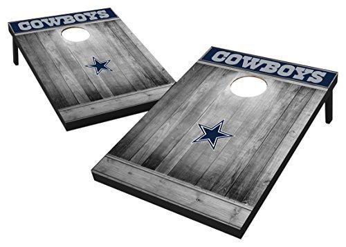 Wild Sports Kornloch-Set aus MDF-Holz, 90 x 90 cm, Grau, Dallas Cowboys Tailgate Toss - Gray Wood Design, Team Color, 2'x3' -