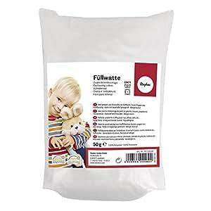 Rayher 30195000 Füllwatte, Waschbar 95 Grad, Füllmaterial 100% Polyester, Beutel 500 g