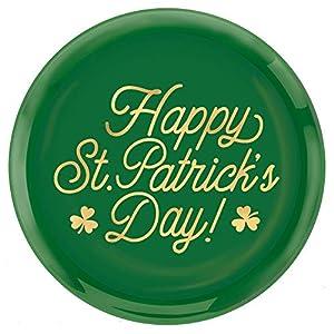 "Amscan 430825 - Bandeja redonda para servir con texto""Happy St Patrick"