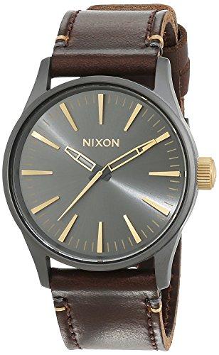 nixon-damen-armbanduhr-sentry-38-leather-gunmetal-gold-analog-quarz-leder-a377595-00