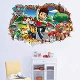 Warmman Geburtstag oder Weihnachtsgeschenk Paw Patrol Aufkleber 3D Abnehmbare Wand Zimmer Wand Dekor Kinder Baby Schlafzimmer Fresco Aufkleber
