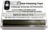 3in18mm Nastro di pulizia per video 8, HI8e DIGITAL8camcorders
