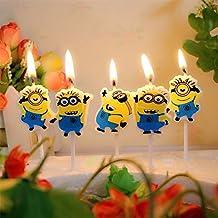 Velas de cumpleaños, diseño de Minions