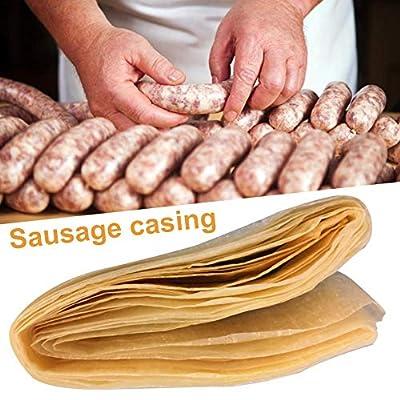 Jannyshop Boyau de Saucisse à séchage Comestible pour Jambon de saucisses Maison Savoureux pour Accessoires de Cuisine