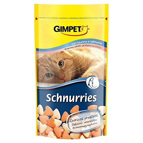 GIMPET Snack per gatto schnurries gusto salmone gr. 50 - Snack per gatto